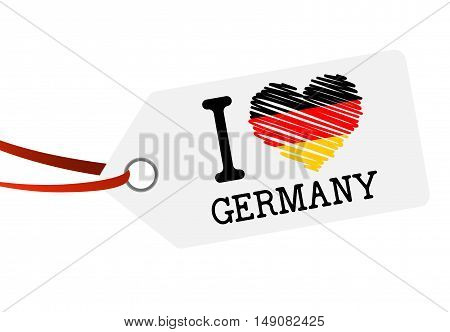 Hang Tag With Text I Love Germany