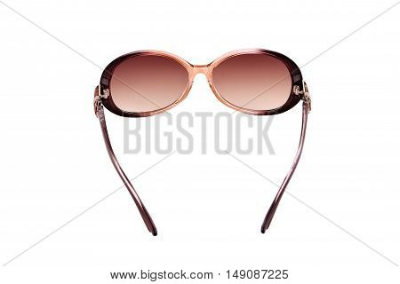 sun glasses red isolated over the white background