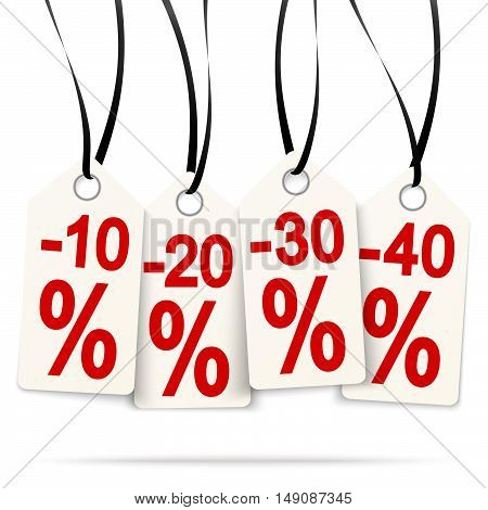 Four Hangtags With Discounts