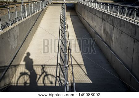 Road To Bicycles In Sant Cugat Del Valles Barcelona