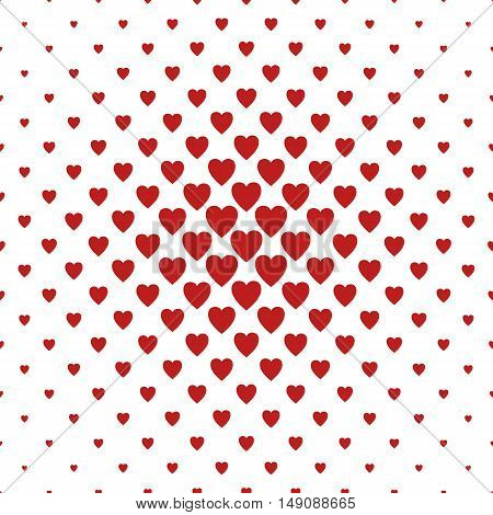 Red and white heart pattern background design