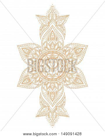 Svadhisthana Sacral Yoga Chakra Mandala. Vector illustration