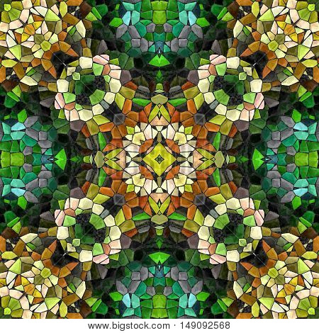 Abstract decorative multicolor mosaic texture - kaleidoscopic 3D pattern