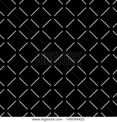 Line geometric seamless pattern. Fashion graphic background design. Modern stylish abstract texture. Monochrome template for prints textiles wrapping wallpaper website. Stock VECTOR illustration