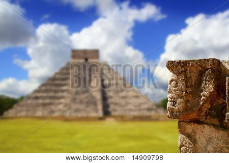 Chichen Itza Tzompantli The Wall Of Skulls