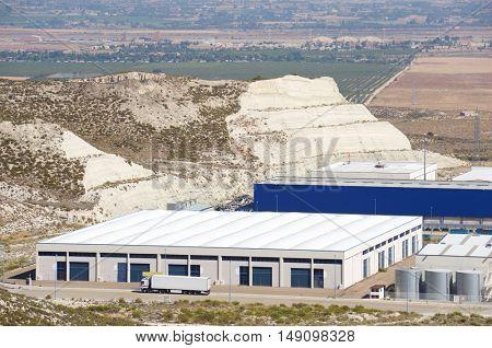 Industrial zone in La Muela, Zaragoza Province, Aragon, Spain.