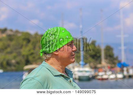 Man In Green Bandana