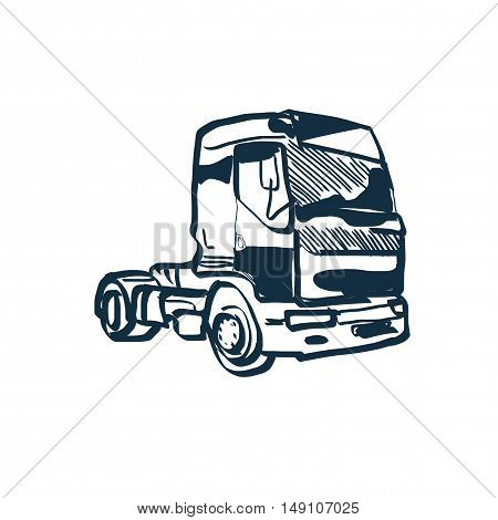 sketch of a truck or a lorry