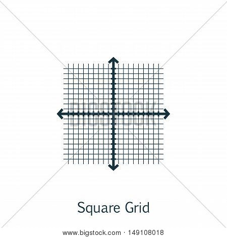Vector Illustration Of Statistics Icon On Square Grid In Trendy Flat Style. Statistics Isolated Icon