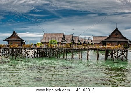 Kapalai Resort View Turquoise Tropical Paradise Borneo Indonesia