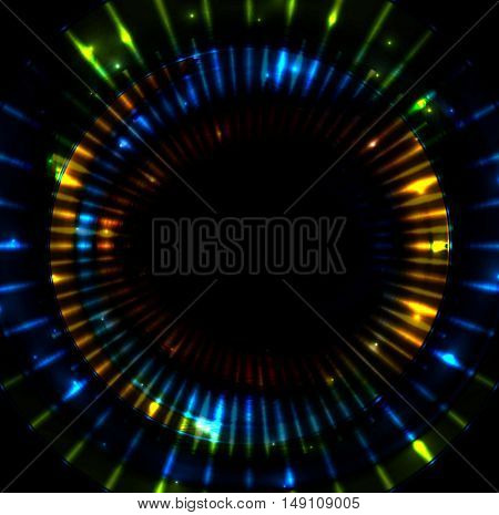 Colorful glowing beams stripes vector illustration. Abstract shiny background