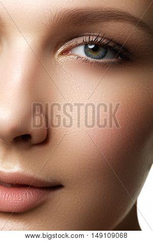 Beauty Portrait. Beautiful Spa Woman. Perfect Fresh Skin. Isolat
