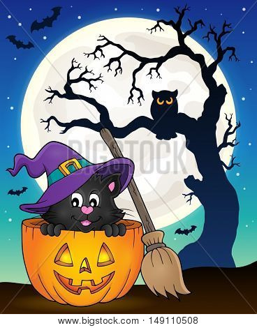 Halloween cat theme image 9 - eps10 vector illustration.