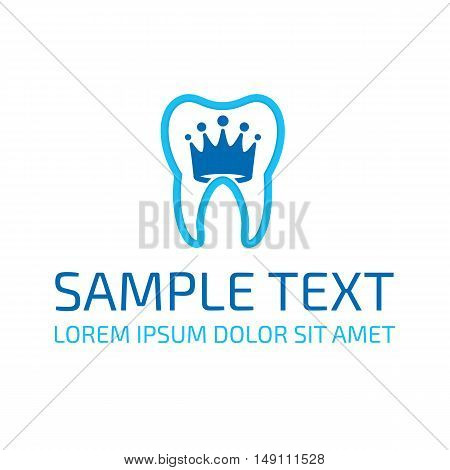 Dental Logo Design. Stomatology emblem template. Icon for Dentist clinic. Tooth symbol.