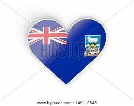 Flag Of Falkland Islands, Heart Shaped Sticker