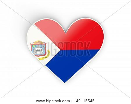 Flag Of Sint Maarten, Heart Shaped Sticker