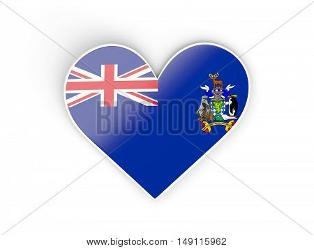 Flag Of South Georgia And The South Sandwich Islands, Heart Shaped Sticker