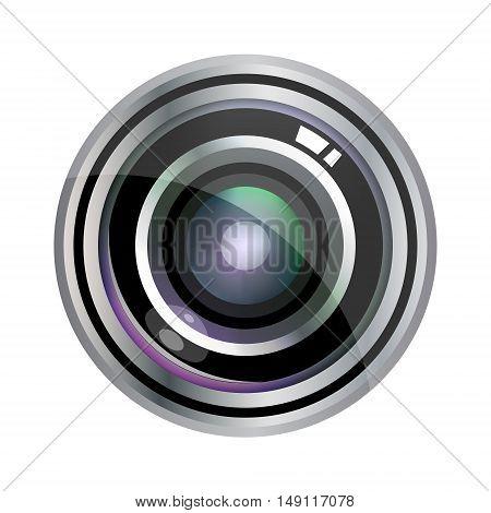 Modern Vector Realistic Lens Design Isolated On White. Vector Illustration