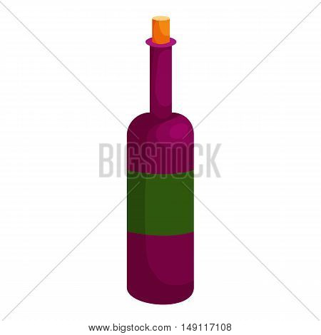 Wine icon in cartoon style isolated on white background. Drink symbol vector illustration
