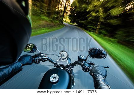 Close up of a motorcycle