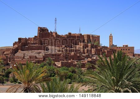 Old Kasbah in Atlas Mountains Morocco, Africa