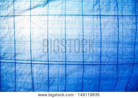 Semi transparent construction site cloth against the sunlight.