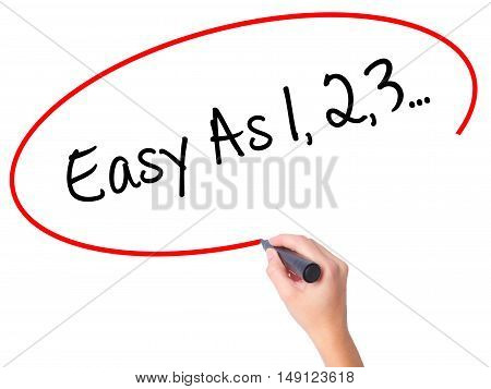 Women Hand Writing Easy As 1,2,3