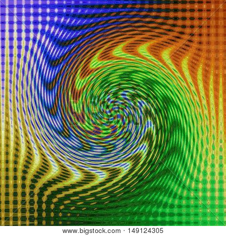 Abstract coloring background of the tropical colours gradient with visual wave,mosaic and twirl effects.Good for your project design