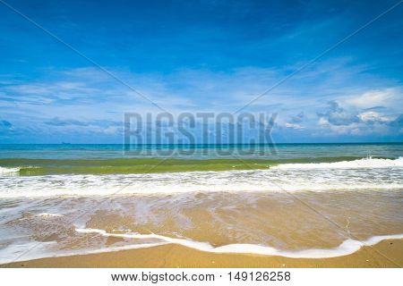 Shore Landscape Stormy Scene