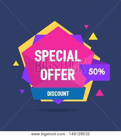 Sale Banner Geometric. Special Offer. Vector illustration