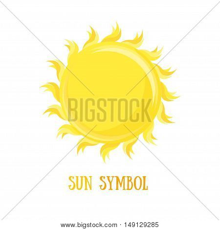 Symbol Of The Sun. Flat Design Style. Vector illustration