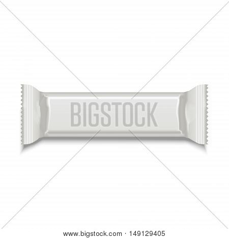 Template White Blank Sweet Stick for Snack Product. Vector illustration