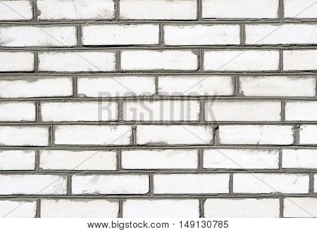 Grey Brickwork Detailed Texture Background - Stock Photo