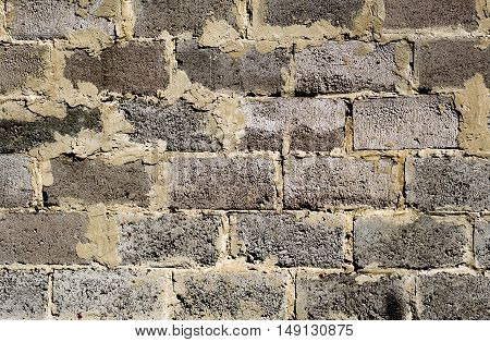 Old Brickwork Detailed Texture Background - Stock Photo