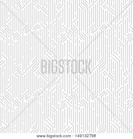 Geometric technology digital striped vector seamless pattern.