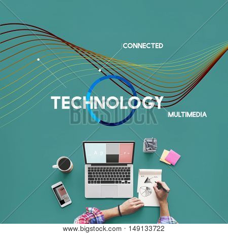 Technology Cloud Network Share Multimedia Concept