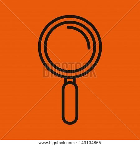 icon search look seek social network design graphic vector illustration