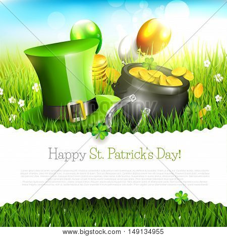 St. Patrick's Day greeting card with place for your text