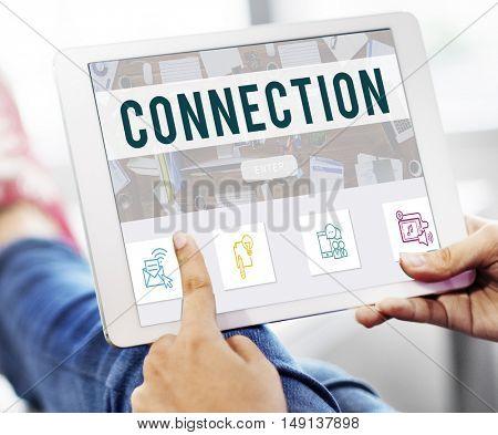 Connection Online Communication Technology Concept