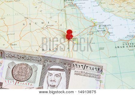 King Fahd On 1 Riyal Banknote
