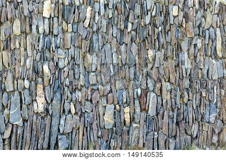 Close view of a stone wall for background