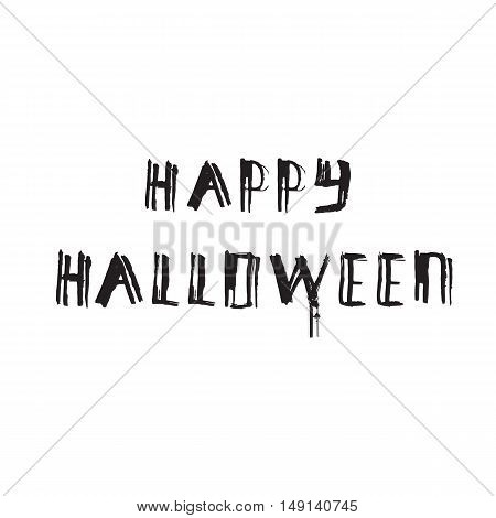 Happy Halloween grunge modern typographic, brush calligraphy and hand drawn lettering.