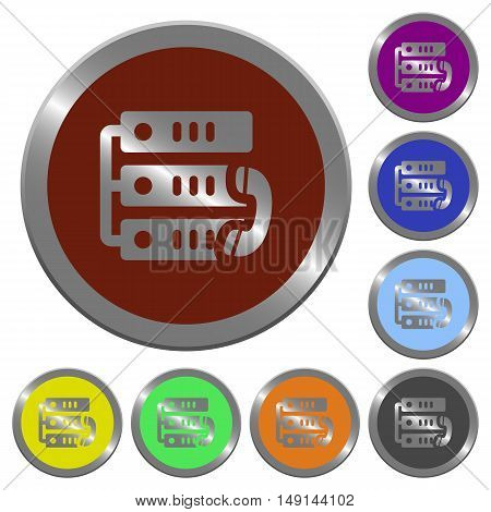 Set of color glossy coin-like VoIP call buttons