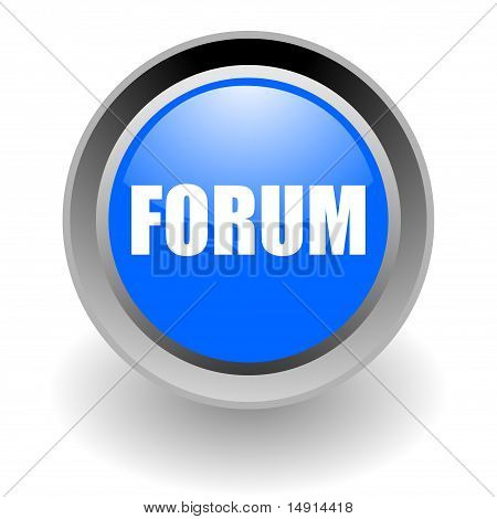 forum steel glossy icon