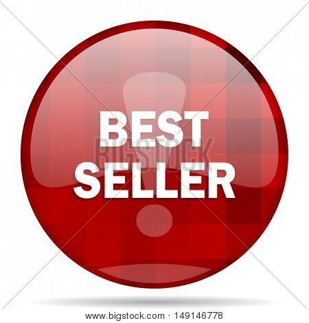 best seller red round glossy modern design web icon
