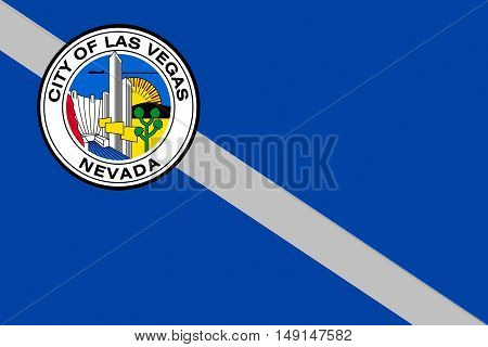 Flag of Las Vegas City of Nevada state United States