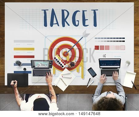 Plan Strategy Target Aim Success Concept