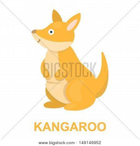 Kangaroo icon cartoon. Singe animal icon from the big animals collection.