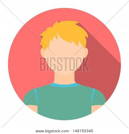 Redhead boy icon cartoon. Single avatar, peaople icon from the big avatar collection.