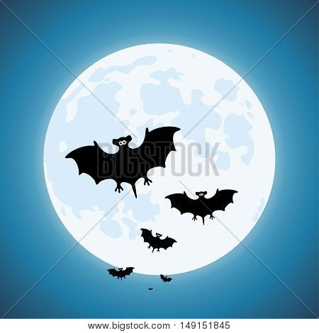 vector bats in the night scary vampires of wildlife concept
